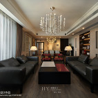 暖灰色混搭风格客厅效果图