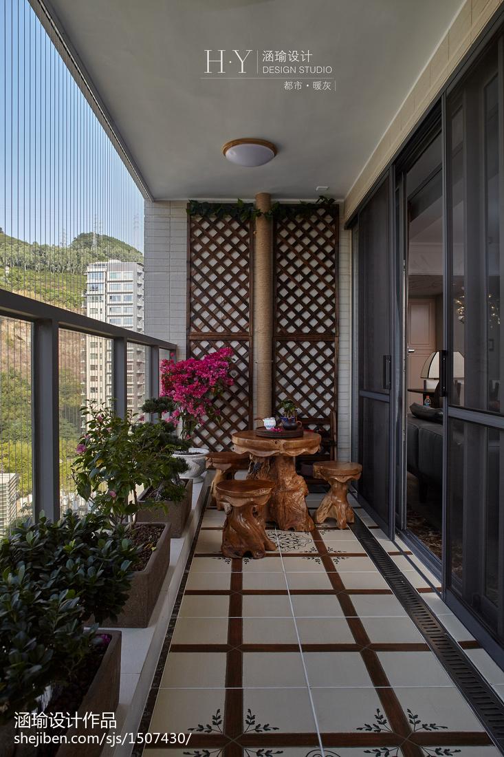 静雅混搭风格阳台设计