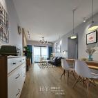 89㎡北欧清新风,厨房与餐厅之间的一扇窗让房子多了一处景_2641322