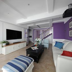 大气美式复式客厅装修