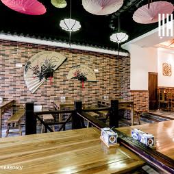 中国风快餐厅红砖墙设计