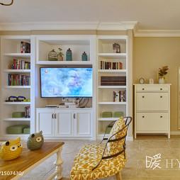 法式电视墙储物柜