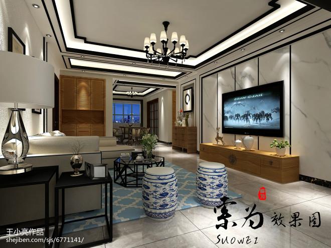 开阳小区新中式大厅_2659893