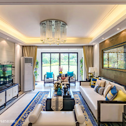 新中式风格样板间客厅