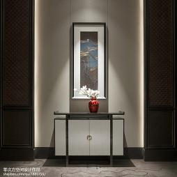新中式售楼处玄关柜