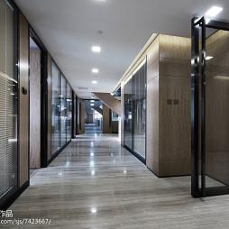 办公会所过道木纹地板