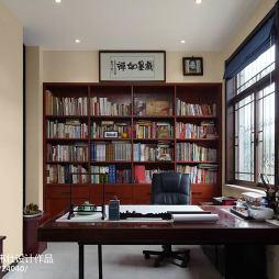 典雅中式别墅书房