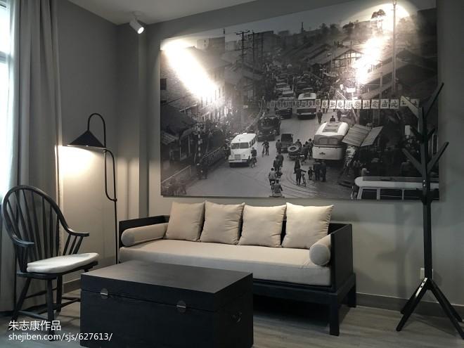 城市客栈休闲区装饰画