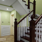 家居美式楼梯扶手