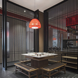 火锅店隔间设计
