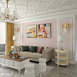 法式客厅沙发背景墙