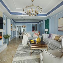 清新美式客厅装饰图