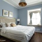 淡蓝色卧室效果图