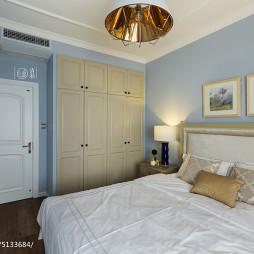 淡蓝色卧室衣柜