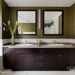 美式实木卫浴柜