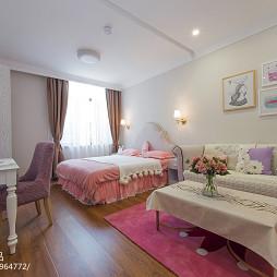 月子中心会所粉红色房间设计图