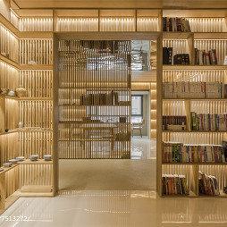 别墅实木书架设计