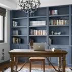 书房深灰色书架