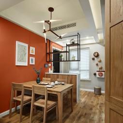 时尚餐厅橙色墙漆