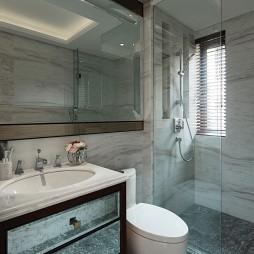 别墅样板房卫浴玻璃隔断