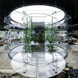 书店玻璃绿植中庭