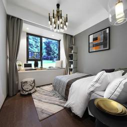 现代风格样板间卧室