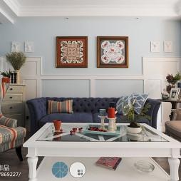 时尚简欧风格沙发背景墙设计