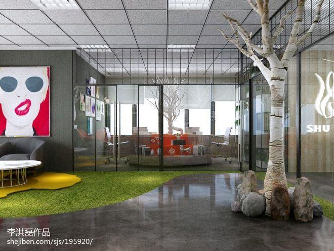 一套非常森系的工业风营销办公空间_2