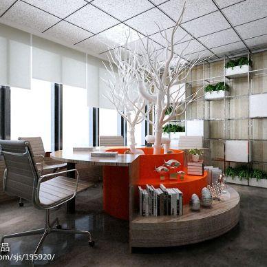 一套非常森系的工业风营销办公空间_2729207