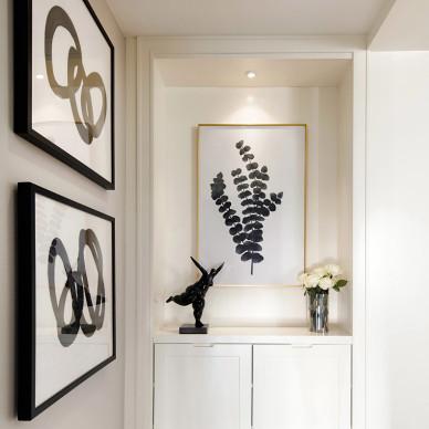 柒筑空間設計——白色翡冷翠,气质美如兰_2733006
