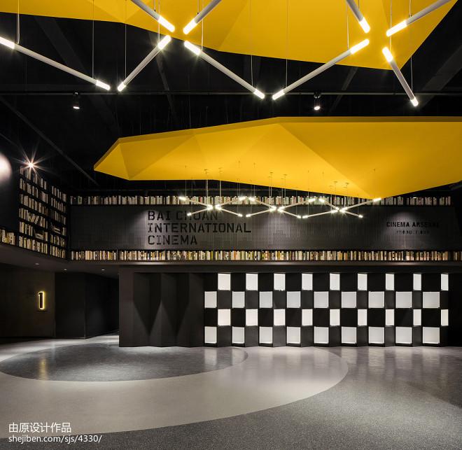 百川国际影城书架装修