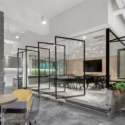 办公空间隔断门设计