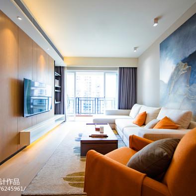 華發國際花園简约客厅设计图片