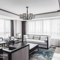 明亮中式客厅设计图片