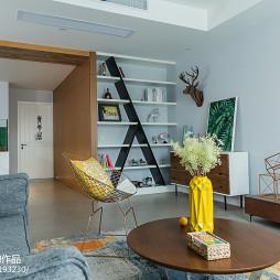 混搭风格客厅收纳柜设计图
