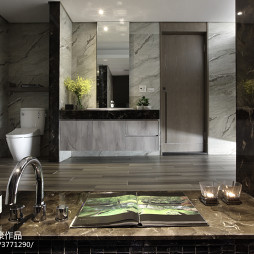 豪华现代风格卫浴洗手盆设计图