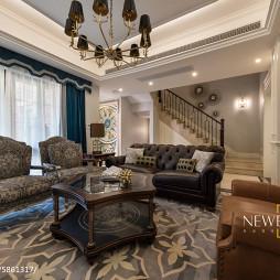 美式客厅左右沙发设计图
