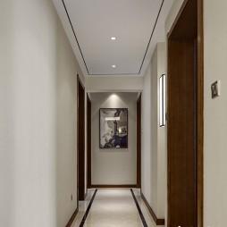 新中式走廊过道装修效果图
