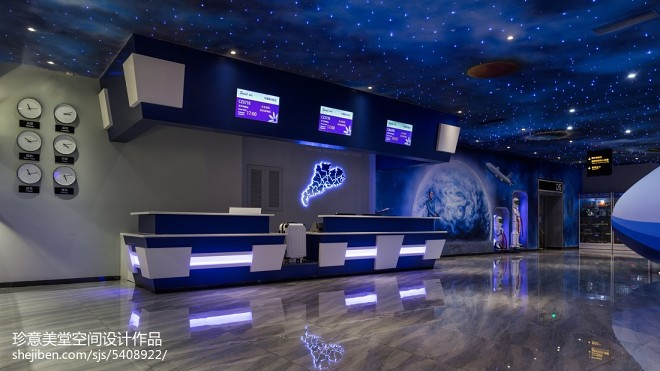 现代时尚主题餐厅前台设计