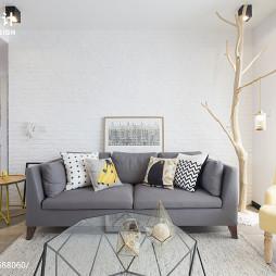 160㎡北欧混搭客厅沙发设计图