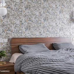 88㎡现代简约床头壁灯设计图