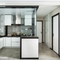 88㎡现代简约小型厨房设计图
