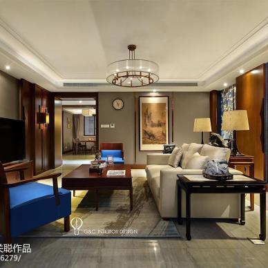 蓝海东方客厅设计效果图