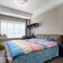160㎡简约三室卧室设计图