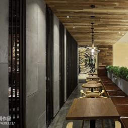 拾光里书吧餐厅就餐区设计效果图