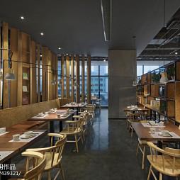 拾光里书吧餐厅餐饮区设计效果图