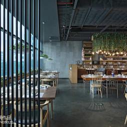 拾光里书吧餐厅开放餐饮区设计