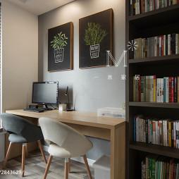 120m²北欧风格书房设计图
