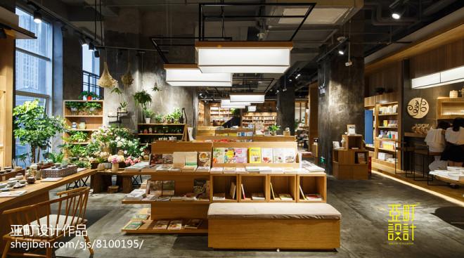 阅+书店图书展示区设计图片