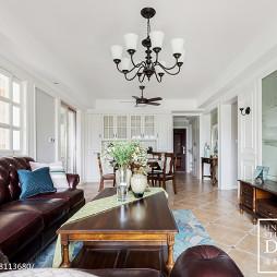 133m²美式客厅吊灯设计图